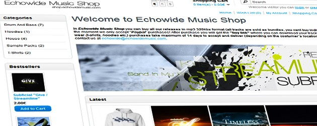 Echowide Music Shop is here, you can buy our releases and merchandise from there (T-shirts, hoodies and etc)!