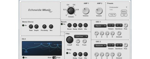 "Our new virtual synthesizer is here, its called ""Echowide Music VS""!"